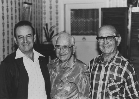 Joe Cassar, middle, Frank Testa, R, and Grech (George perhaps) Wollongong (photo - B York)