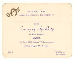 21st Invitation