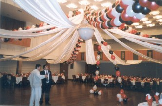 Balloons and Everything decoration of Wollongong Town Hall