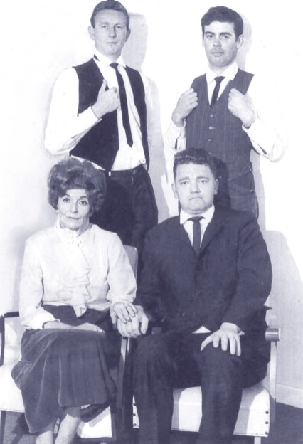 "portrait of cast of ""Garden District"", Colin Challenger, Pam Dunn, Ron Herbert, Bruce Hudson"