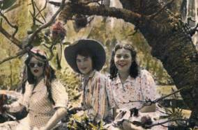 Flo (right) at 16 with friends
