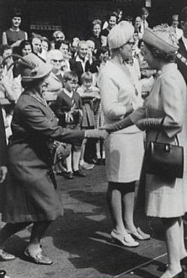 Alderman Rube Hargrave is presented to Queen Elizabeth II during her visit to Wollongong in 1970 - P16385