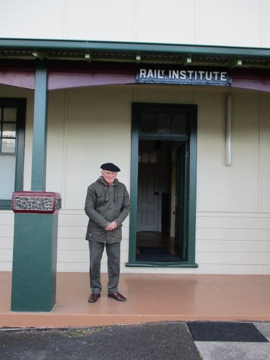 Paul Tuckerman outside the hall