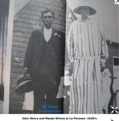John Henry and Maude Simms at La Perouse - 1920s.