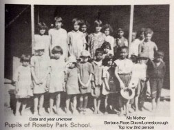 Pupils of Roseby Park School - Sonny's mother Barbara top row, 2nd person.