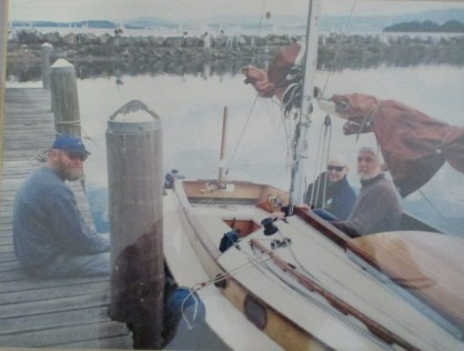Boat Comradeship with Mike Dwyer (centre)