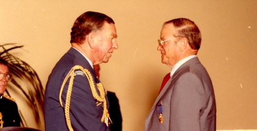 Fred investiture OAM 1984