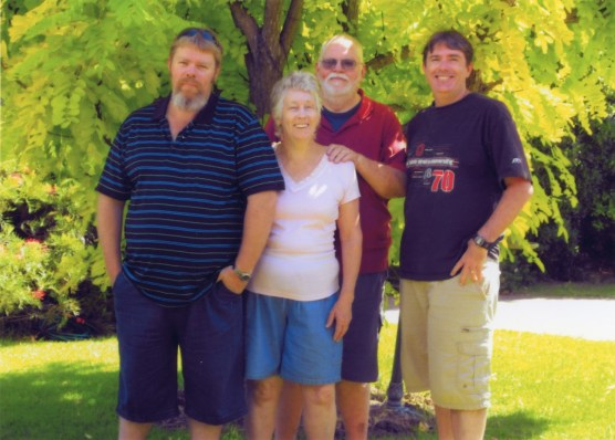John and Barbara Street with their sons Martin and Stuart - circa. 2010