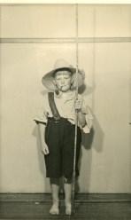 John Street dressed as Huckleberry Finn - Fancy Dress at Wollongong RSL - December 1948
