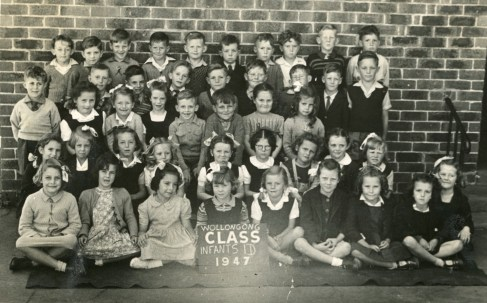 Wollongong Public School - 1947 - John Street (second row from back, fourth from right). His future brother-in-law Jim Thomson is in the same row, second from left.