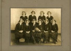 Carol with Basketball rep team - 1938