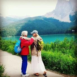Carol North with granddaughter Simone in Emerald Lake, Canada - 2018