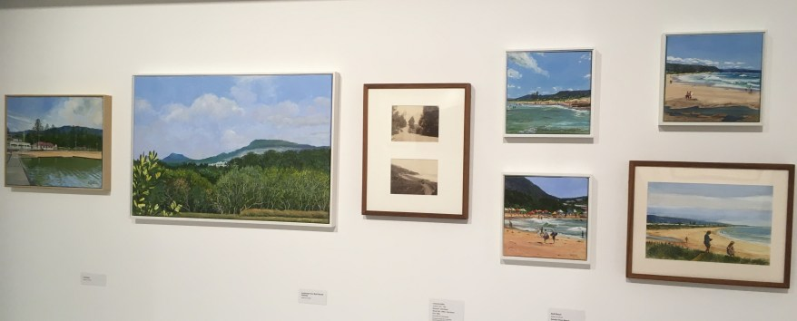 Pamela Griffith's paintings exhibited at the Wollongong Art Gallery