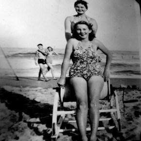 1940 - Rona Foulds & Norma Jones beach patrol Stanwell park beach
