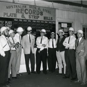 2 December 1963 - Immigration delegation touring the Plate and Strip Mills - P06639