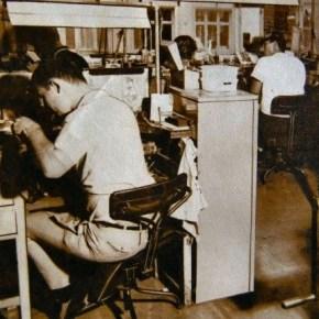 1970 - Me working at Rhonrae Jewellers Sydney