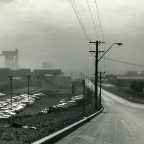 16 September 1980 - Flinders Street, Port Kembla - Wind blown dust from Steelworks coke ovens - P23756