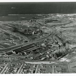 1954 - Aerial view of the Steelworks - photo from the Arthur Cratchley Collection - P16566