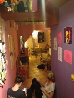 Manga Hostel Living Area