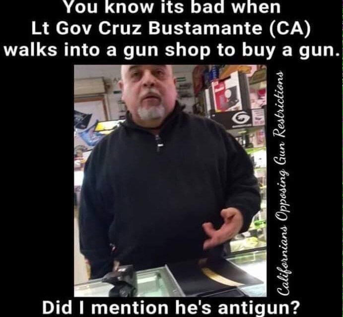 CA Lt gov Cruz Bustamante Busted Buying a gun?