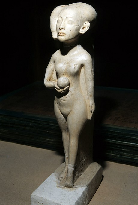 "This Limestone figurine ""A Daughter of the Pharaoh Akhenaten"" was stolen in August 2013"
