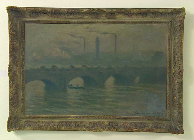 "Claude Monet's ""Waterloo Bridge"", which according to the BBC has not been seen in 75 years"