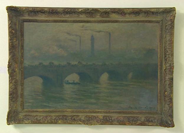 "Claude Monet's ""Waterloo Bridge"", which according to the BBC has not been seen in 75 years"