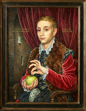 "Michael Taylor's ""Boy With Apple"" painted for the film"
