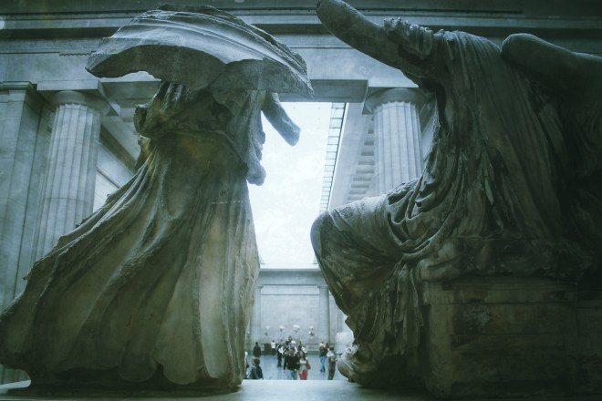 The Parthenon Sculptures at the Duveen Gallery, in the British Museum