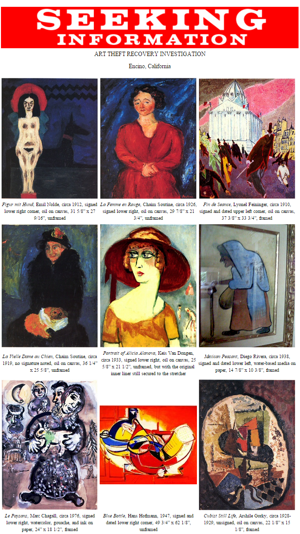 FBI — ART THEFT