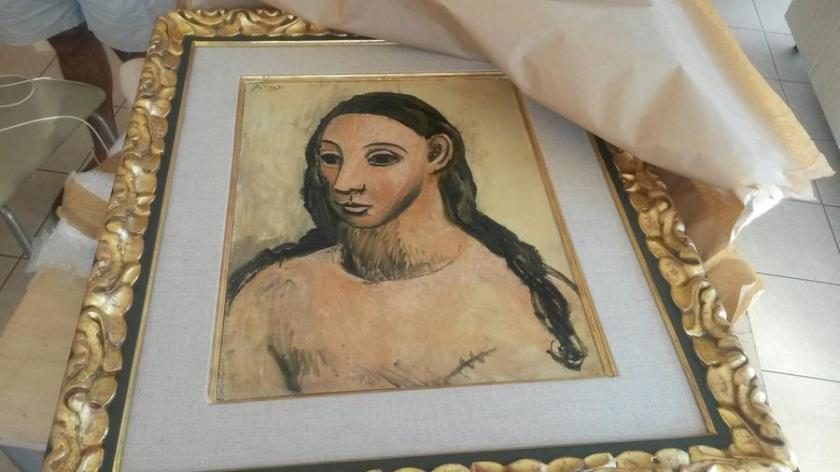 """Head of a Young Woman"" by Pablo Picasso was seized by French customs officials on the island of Corsica"