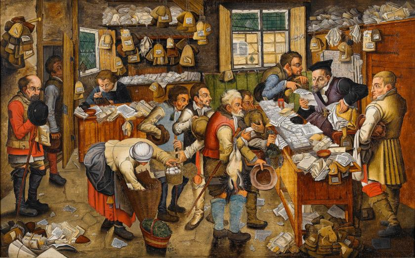 "Pieter Brueghel the Younger (or workshop), ""The Payment of the Tithes"""