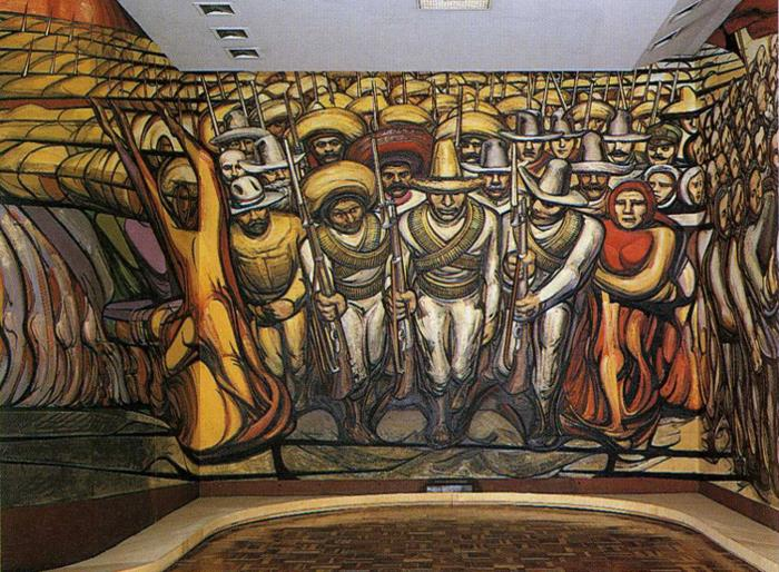 """The Revolution (Mural)"" by David Alfaro Siqueiros"