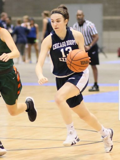 Brenna Loftus plays for Chicago Hoops Express