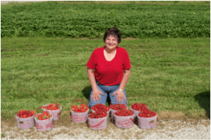Customer with Berries