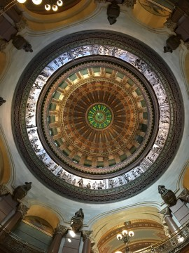 The Illinois Capitol building is the tallest domed capitol in the United States.