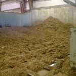 Wood chips are prepared to be fed into one of the boilers.