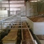Wood chip processing operation.