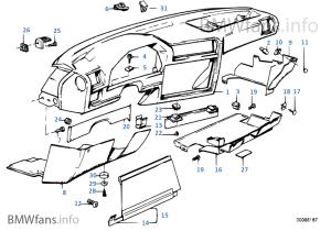 Trim panel dashboard | BMW 3' E30 323i M20 Europe