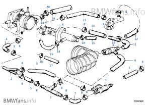 Vacuum control — engine | BMW 5' E28 520i M20 Europe