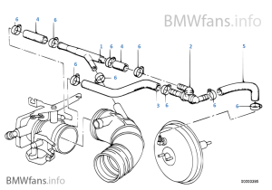 Vacuum control — engine | BMW 3' E30 320i M20 Europe