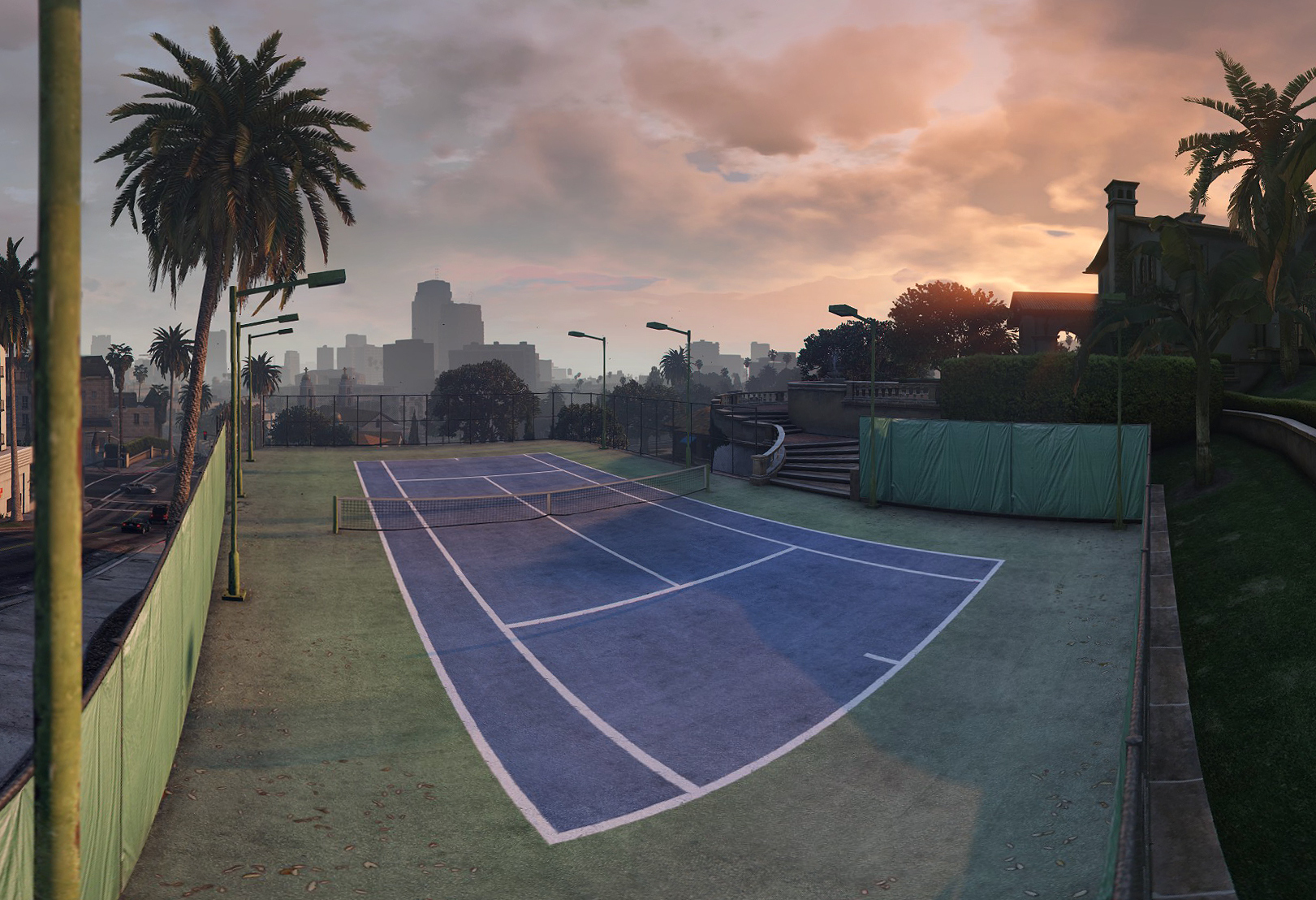 Rockford Drive Private Tennis Court High Res Pano Illsnapmatix