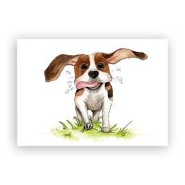 Afbeelding wenskaart Beagle