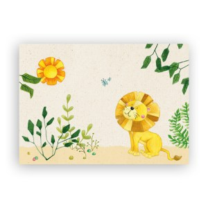 Afbeelding wenskaart leeuwtje