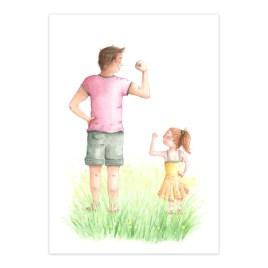 Poster: Sterke papa en dochter