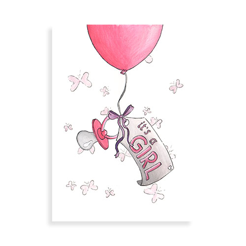 Ballon: It's a girl!