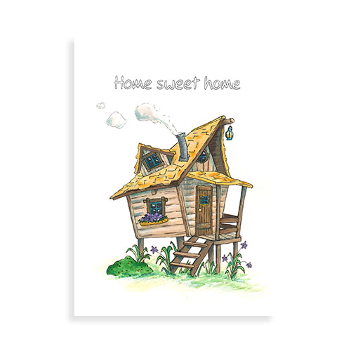 "Voorkant ansichtkaart ""Home sweet home"""