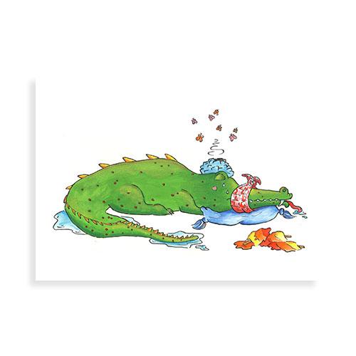 Zieke krokodil