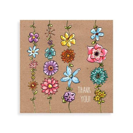 """Voorkant kaart """"Thank you flowers"""""""