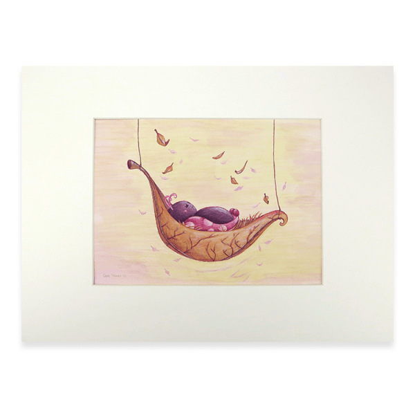 Afbeelding illustratie lieveheersbeestje roze
